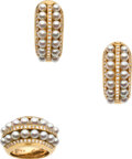 Estate Jewelry:Suites, Cultured Pearl, Diamond, Gold Jewelry Suite, Poirey, French. ...