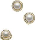 Estate Jewelry:Suites, Mabe Pearl, Diamond, Gold Jewelry Suite. ... (Total: 3 Items)