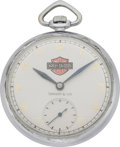 Timepieces:Pocket (post 1900), Swiss Pocket Watch with Harley Davidson Logo, circa 1930. ...