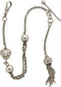 Timepieces:Watch Chains & Fobs, Lady's Victorian Silver Watch Chain, circa 1880. ...