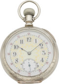 Timepieces:Pocket (pre 1900) , Illinois Fancy Dial Pocket Watch, circa 1892. ...