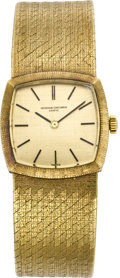 Timepieces:Wristwatch, Vacheron & Constantin Lady's Gold Bracelet Wristwatch, circa1965. ...