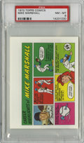Baseball Cards:Singles (1970-Now), 1973 Topps Comics Test Issue Mike Marshall PSA NM-MT 8....