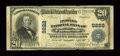 National Bank Notes:Virginia, Farmville, VA - $20 1902 Plain Back Fr. 652 The Peoples NB Ch. #9222. ...