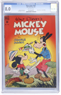 Four Color #181 Mickey Mouse (Dell, 1948) CGC VF 8.0 Off-white pages