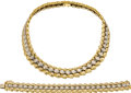 Estate Jewelry:Suites, Diamond, Twotone Gold Jewelry Suite. ... (Total: 2 Items)
