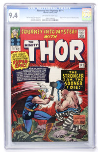 Journey Into Mystery #114 (Marvel, 1965) CGC NM 9.4 Off-white to white pages