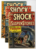 Golden Age (1938-1955):Horror, Shock SuspenStories Group (EC, 1952-54) Condition: Average GD-....(Total: 5 Comic Books)