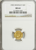 Commemorative Gold, 1903 G$1 Louisiana Purchase/McKinley MS64 NGC....