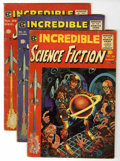 Golden Age (1938-1955):Science Fiction, Incredible Science Fiction Group (EC, 1955-56) Condition: AverageVG-.... (Total: 4 Comic Books)