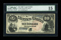 Large Size:Legal Tender Notes, Fr. 105 $10 1880 Legal Tender PMG Choice Fine 15....