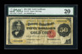 Large Size:Gold Certificates, Fr. 1197 $50 1882 Gold Certificate PMG Very Fine 20....