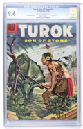 Silver Age (1956-1969):Adventure, Turok #3 (Dell, 1956) CGC NM 9.4 Off-white to white pages....