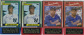 Autographs:Sports Cards, Bernie Williams and Dave Justice Signed Cards Group Lot of 4....