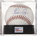 Autographs:Baseballs, Nolan Ryan Signed Baseball PSA Mint+ 9.5....
