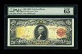 Large Size:Gold Certificates, Fr. 1180 $20 1905 Gold Certificate PMG Gem Uncirculated 65 EPQ....