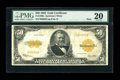 Large Size:Gold Certificates, Fr. 1200a $50 1922 Mule Gold Certificate PMG Very Fine 20....
