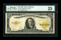 Large Size:Gold Certificates, Fr. 1173 $10 1922 Gold Certificate PMG Very Fine 25....
