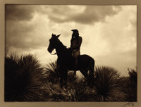 EDWARD SHERIFF CURTIS (American, 1868-1952) The Scout, Apache, 1906 Toned silver gelatin, 1906 Pa