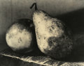 Photography :20th Century , JOSEF SUDEK (Czech, 1896-1976). Still Life with Apple and Pear. Silver gelatin, 1950. Paper: 6-1/2 x 8-1/2 inches (16.5 ...