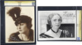 Movie/TV Memorabilia:Autographs and Signed Items, Dorothy Dalton and Elizabeth Patterson Signed Photos.... (Total: 2Items)