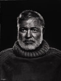 Photographs, PROPERTY FROM A PRIVATE TEXAS COLLECTION. YOUSUF KARSH (Canadian, 1908-2002). Hemingway, 1954. Silver gelatin, 1967. 4...