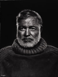 PROPERTY FROM A PRIVATE TEXAS COLLECTION  YOUSUF KARSH (Canadian, 1908-2002) Hemingway, 1954 G