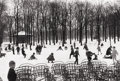 Photography :20th Century , EDOUARD BOUBAT (French, 1923-1999). Premier Neige, 1955. Silver gelatin, printed later. Paper: 12 x 16 inches (30.5 x 40...