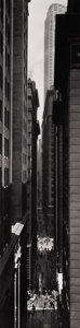Photography :20th Century , BERENICE ABBOTT (American, 1898-1991). Exchange Place, New York, 1936. Silver gelatin, printed later. 19 x 4-3/4 inches ...