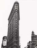 Photographs, BERENICE ABBOTT (American, 1898-1991). The Flat Iron Building, 1938. Silver gelatin, circa 1980s. 13-1/2 x 10-1/2 inches...