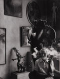 Photography :20th Century , ARNOLD NEWMAN (American, 1918-2006). Max Ernst, New York City, 1942. Silver gelatin, 1978. 9-3/4 x 7-1/2 inches (24.8 x ...