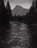 Photography :20th Century , ANSEL EASTON ADAMS (American, 1902-1984). Half Dome, River, Spring, 1930s. Silver gelatin, 1930s. 9-3/8 x 7-1/4 inches (...