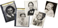 Movie/TV Memorabilia:Autographs and Signed Items, Dorothy Lamour and Others Actress-Signed Photos.... (Total: 5Items)