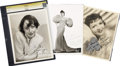Movie/TV Memorabilia:Autographs and Signed Items, Claudette Colbert, Gypsy Rose Lee, and Luise Rainer SignedPhotos.... (Total: 3 Items)