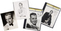 Music Memorabilia:Autographs and Signed Items, Bing Crosby and Others Singer-Signed Photos.... (Total: 4 Items)