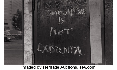 LEE (NORMAN) FRIEDLANDER (American, b. 1934) Seattle, Communism is Not Existential, 1985 Silver gelatin, 1990s Paper:...