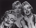 Photographs, PHILIPPE HALSMAN (American, 1906-1979). Three Marilyns, 1952. Silver gelatin, 1981. Paper: 11 x 14 inches (27.9 x 35.6 c...