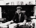 Photography :20th Century , JACQUES LOWE (American, 1930-2001). John F. Kennedy at Work , 1960-1963. Silver gelatin , 1960-1963. Paper: 8 x 10 inche...