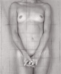 Photography :20th Century , PAUL CAVA (American, b. 1949). Untitled (Sylvian with Grid), 1999. Archival ink jet on rice paper with graphite grid on ...