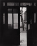 Photography :20th Century , TODD WEBB (American, 1905-2000). Courtyard on the Boulevard, circa 1950. Silver gelatin, circa 1950. 9-1/2 x 7-5/8 inche...