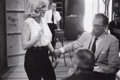 Photographs:Contemporary, BRUCE DAVIDSON (American, b. 1933). The New Face of MarilynMonroe, circa 1960. Gelatin silver, circa 1960. 6-1/2 x 10 i...