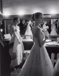 ALLAN GRANT (American, 1919-2008) Audrey Hepburn and Grace Kelly backstage at the 28th Annual Academy Awards, H