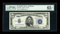 Small Size:Silver Certificates, Fr. 1652* $5 1934B Silver Certificate. PMG Gem Uncirculated 65 EPQ.. ...