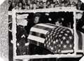Photography :20th Century , ANONYMOUS - AP PHOTO. Widow Pays Final Tribute, Nov 26th, 1963. Silver gelatin wire photo, 1963. Paper: 18-1/2 x 20 inch...