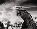 Photographs, BRADFORD WASHBURN (20th Century). View of Mountain with Clouds to the Left, 1940s. Silver gelatin, 1970s. Paper: 16 x 20...