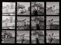 Photographs, HY PESKIN (American, 1915-2005). Contact sheet, Jackie and JFK at Hyannis Port, 1950s. Silver gelatin, 1950s. 8-1/2 x 11...