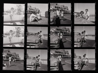 HY PESKIN (American, 1915-2005) Contact sheet, Jackie and JFK at Hyannis Port, 1950s Silver gelatin