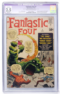 Fantastic Four #1 (Marvel, 1961) CGC Apparent GD+ 2.5 Slight (A) Cream to off-white pages