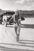 Photographs, EVE ARNOLD (American, 1913-). Group of Seven Photographs of Clark Gable from the set of the Misfits, circa 1960. Silver ... (Total: 7 Items)