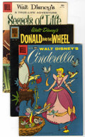 Golden Age (1938-1955):Cartoon Character, Four Color Disney-Related Group (Dell, 1955-61) Condition: AverageFN.... (Total: 10 Comic Books)